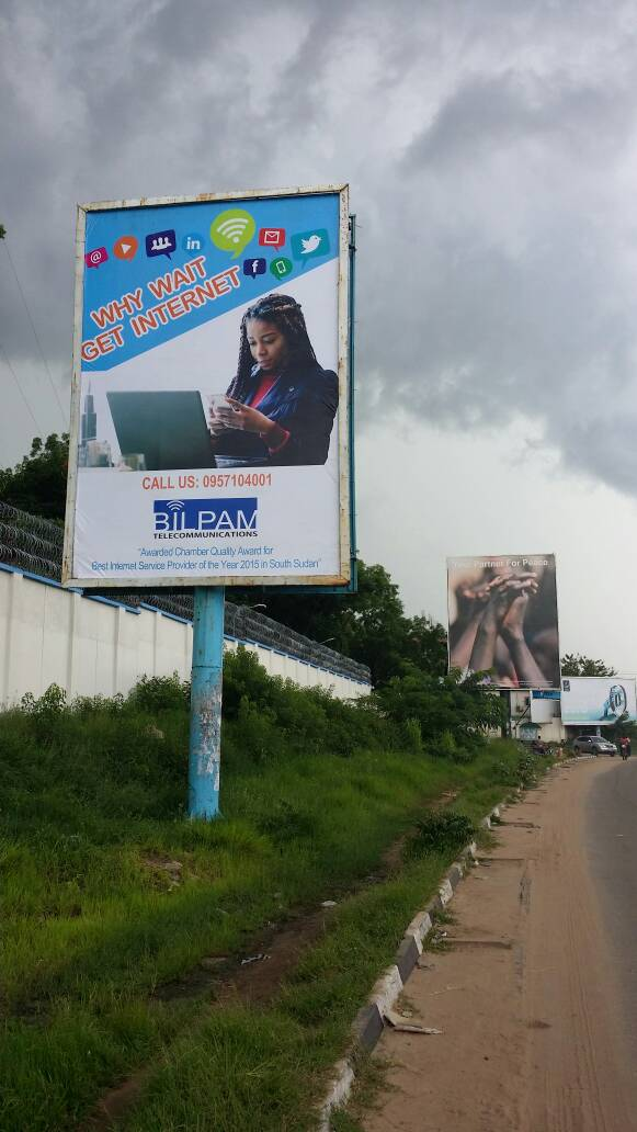 BILPAM Telecommunications Bilboard